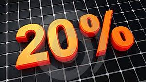 Twenty Percent Royalty Free Stock Image - Image: 20231716