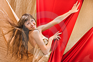 Young Girl In A Red Cloth Stock Photos - Image: 20235243