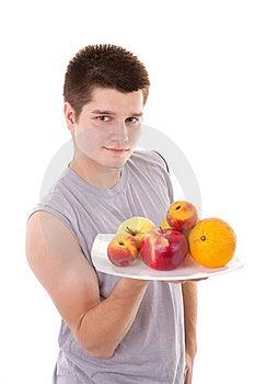 Men Hold Fruits Stock Image - Image: 20236061