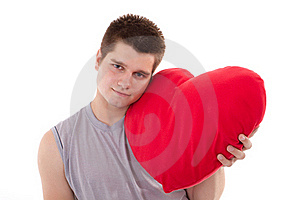 Men Hold Hearts Stock Photos - Image: 20236093