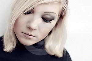 Pretty Young  Sad Woman Portrait Royalty Free Stock Photo - Image: 20237445