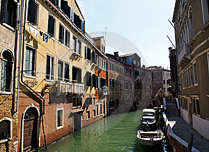 A Quiet One Of Canals In Venice Italy Stock Photo - Image: 20241470