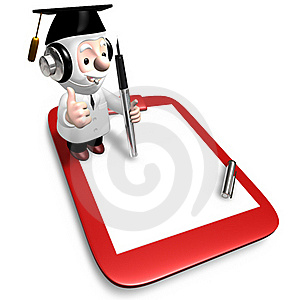 3d Old Doctor Writing Stock Photos - Image: 20241613
