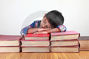 Boy And Books Royalty Free Stock Images - Image: 20241959