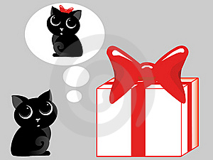 Gift For A Cat Stock Photography - Image: 20242542