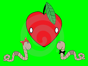 Worms And An Apple Stock Photography - Image: 20242672