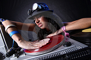 Cool DJ In Action Royalty Free Stock Photography - Image: 20242877