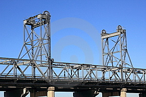 Vertical-lift Bridge  Royalty Free Stock Photos - Image: 20243488