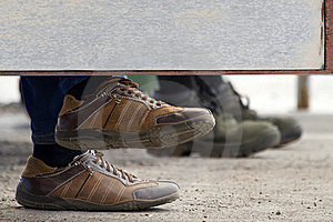 Foot Human Footwear Wall Stock Image - Image: 20244041