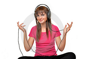 Music Girl With Headphones Stock Photography - Image: 20244752