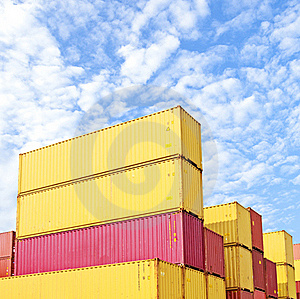 Colorful Container Area Stock Image - Image: 20247511