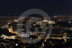 Night View Of The Acropolis Stock Image - Image: 20247861