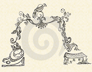 Ornament In The Shape Of An Arch Royalty Free Stock Photography - Image: 20248727