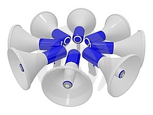 Eight Megaphones Stock Image - Image: 20248811