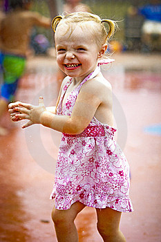 Girl At Waterpark Stock Image - Image: 20249071