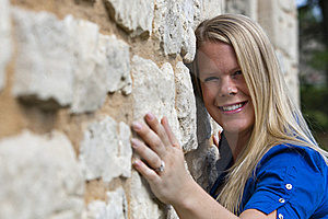 Beautiful Girl On A Building Royalty Free Stock Photography - Image: 20249257