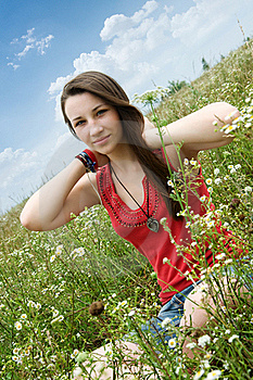 Happy Young Girl Royalty Free Stock Images - Image: 20249359