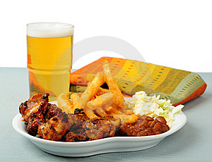Barbecued Wings Royalty Free Stock Photography - Image: 20249747