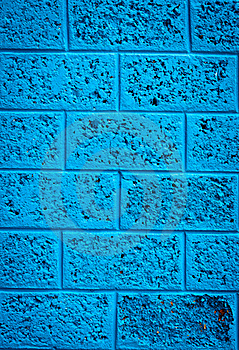 Blue Wall Stock Image - Image: 20250011