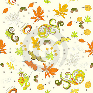 Autumn Seamless Background Royalty Free Stock Images - Image: 20251379
