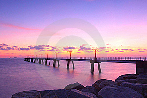 Sunset Along The Coast With Sea Stones Stock Image - Image: 20251451