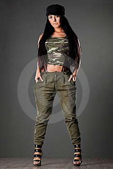 Woman In Military Uniform Stock Image - Image: 20252401
