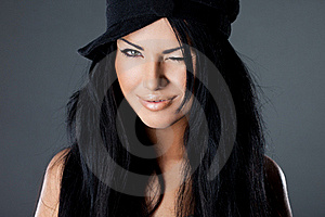 Woman With Hat Royalty Free Stock Photo - Image: 20252405