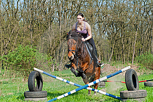 Equestrian - Horse Jumping Stock Image - Image: 20252501