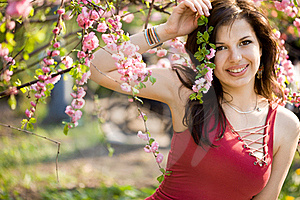 Woman In Garden Royalty Free Stock Image - Image: 20252526