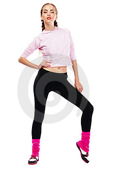 Pretrty Lady In Sports Outfit Stock Images - Image: 20252664