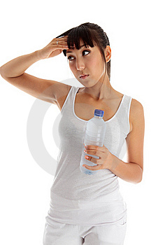 Exhausted Girl After Fitness Stock Photography - Image: 20252912