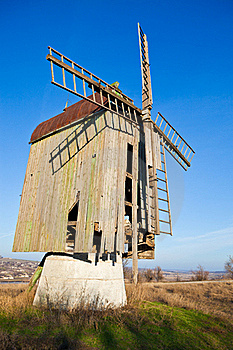 Wooden Old Windmill Stock Photography - Image: 20253682