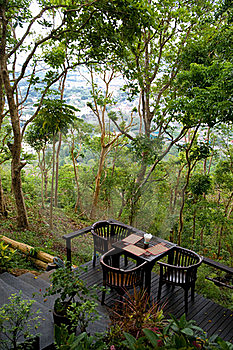 Terrace Cafe In Tropics Royalty Free Stock Images - Image: 20253899