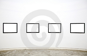 Empty Frames In Gallery Stock Image - Image: 20254341