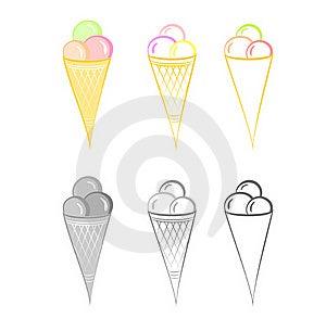 Ice-cream. Set Of Illustrations. Royalty Free Stock Image - Image: 20254366