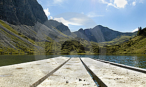 Lake In The Alps Stock Images - Image: 20254414