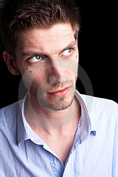 Close-up Portrait Of Man 2 Stock Image - Image: 20255331