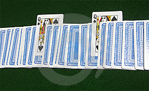 Two Queens Of Spades Royalty Free Stock Photography - Image: 20257117