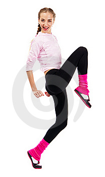 Pretrty Lady In Sports Outfit Stock Photo - Image: 20258300