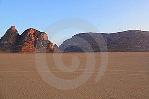 Wadi Rum Desert Landscape. Royalty Free Stock Image - Image: 20259136