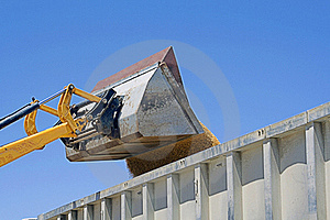 Unloading Wheat In A Truck Stock Photo - Image: 20260980