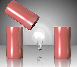 Bulb Under Cups Stock Images - Image: 20263604