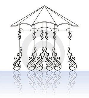 Ornamental-fence-set Stock Photo - Image: 20265760