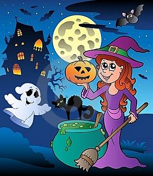 Scene With Halloween Mansion 8 Stock Images - Image: 20265904