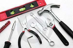 Basic Construction Tool Set Royalty Free Stock Image - Image: 20267286
