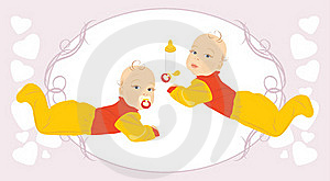 Baby Twins Stock Photos - Image: 20274493