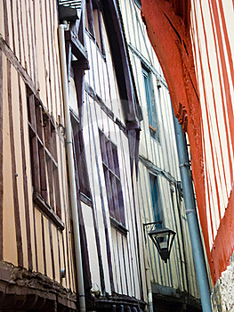 Narrow Streets Of Rouen, Normandy, France Royalty Free Stock Photography - Image: 20280517