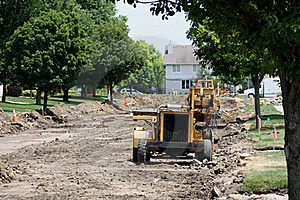 Residential Street Reconstruction Stock Image - Image: 20280921