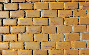 Old Wall Made From Yellow Bricks Stock Photography - Image: 20281212