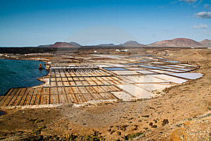 Lanzarote Salt Mine Royalty Free Stock Photo - Image: 20281605